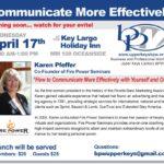 4/17 Karen Pfeffer Speaking at Business Professional Women Upper Keys – Communication