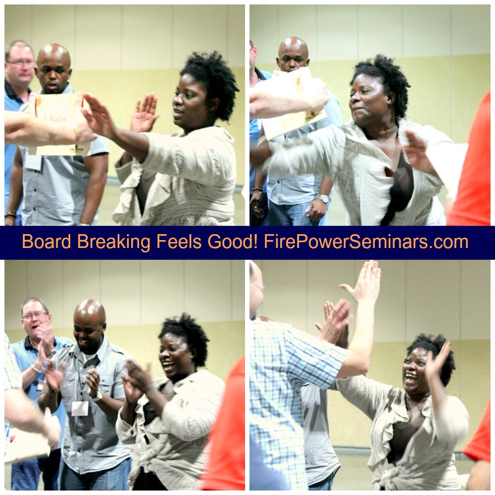Board Breaking Feels Good Fire Power Seminars