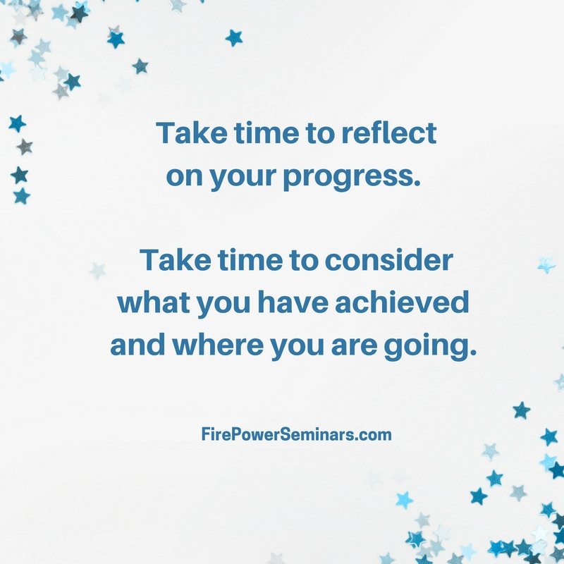 Take time to reflect on your progress-23831