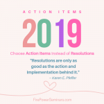 Choose Action Items Instead of Resolutions