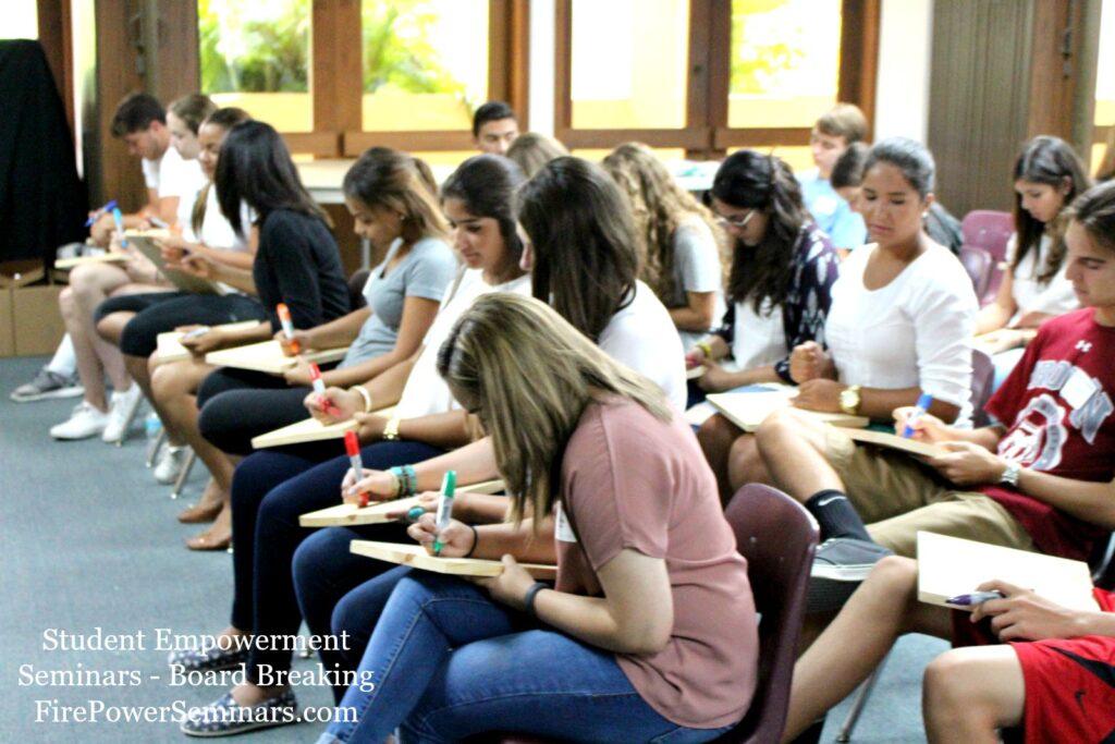 Fire Power Seminars Student Empowerment Seminars Board Breaking Event PTS