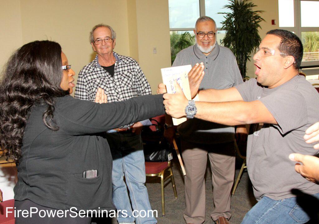 Fire Power Seminars Board Breaking Team Building Seminar